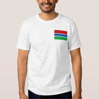 Bandera de Gambia y camiseta del mapa Playera