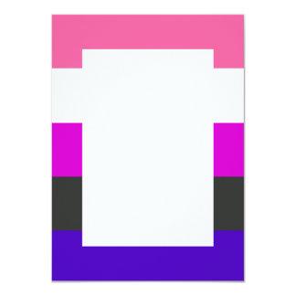 """Bandera de Genderfluid Invitación 4.5"""" X 6.25"""""""