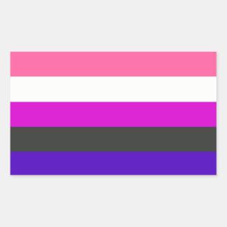 Bandera de Genderfluid Rectangular Pegatinas