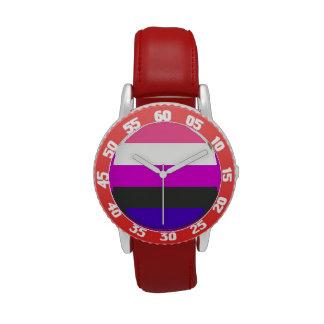 Bandera de Genderfluid Relojes De Pulsera