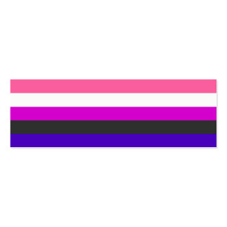 Bandera de Genderfluid Tarjeta De Negocio