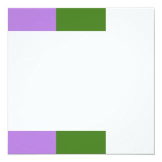 """Bandera de Genderqueer Invitación 5.25"""" X 5.25"""""""