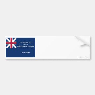 Bandera de George Rex -- ¡CAMPO AZUL CORREGIDO! Pegatina De Parachoque