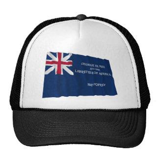 Bandera de George Rex -- ¡CAMPO AZUL CORREGIDO! Gorros Bordados