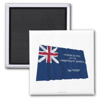 Bandera de George Rex -- ¡CAMPO AZUL CORREGIDO! Imán De Frigorífico