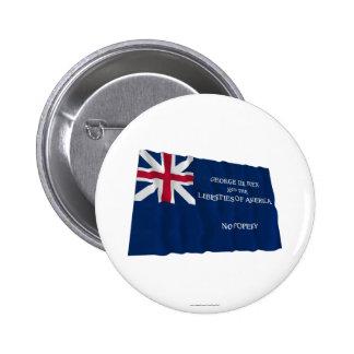 Bandera de George Rex -- ¡CAMPO AZUL CORREGIDO! Pins