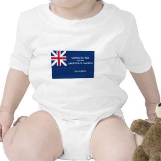 Bandera de George Rex -- ¡CAMPO AZUL CORREGIDO! Trajes De Bebé