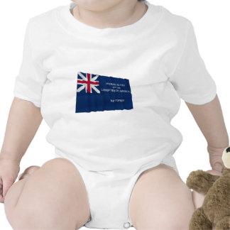 Bandera de George Rex -- ¡CAMPO AZUL CORREGIDO! Traje De Bebé