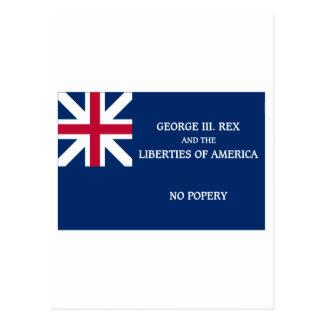 Bandera de George Rex -- ¡CAMPO AZUL CORREGIDO! Postal