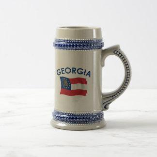 Bandera de Georgia Jarra De Cerveza