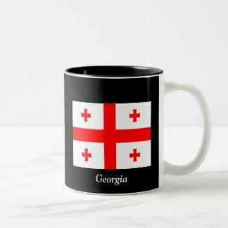 Bandera de Georgia (país) Taza De Dos Tonos
