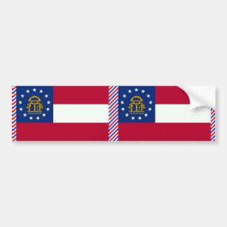 Bandera de Georgia Pegatina Para Auto