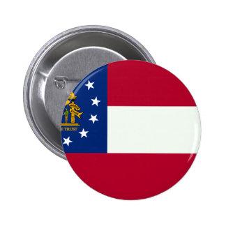 Bandera de Georgia Pin Redondo De 2 Pulgadas