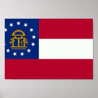 Bandera de Georgia Póster