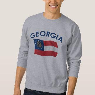 Bandera de Georgia Pulovers Sudaderas