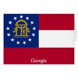 Bandera de Georgia Tarjeta
