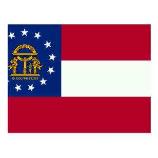 Bandera de Georgia Tarjetas Postales