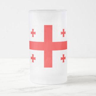 Bandera de Georgia Taza De Cristal