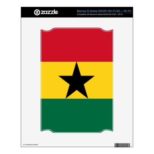 Bandera de Ghana Calcomanías Para El NOOK