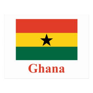 Bandera de Ghana con nombre Tarjetas Postales