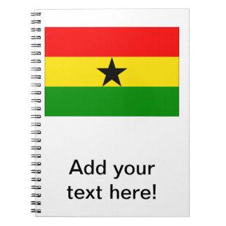 Bandera de Ghana Cuadernos