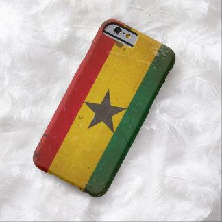 Bandera de Ghana del Grunge del vintage Funda De iPhone 6 Barely There