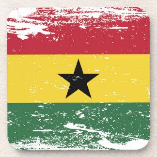 Bandera de Ghana del Grunge Posavaso