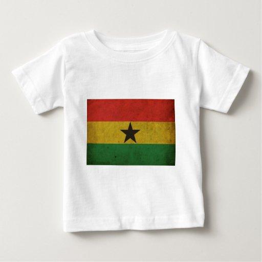 Bandera de Ghana del vintage Playeras