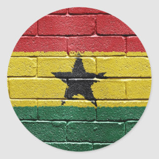 Bandera de Ghana Etiquetas Redondas