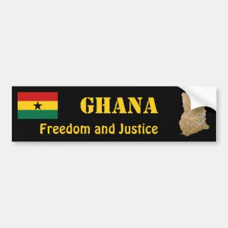 Bandera de Ghana + Pegatina para el parachoques de Pegatina De Parachoque