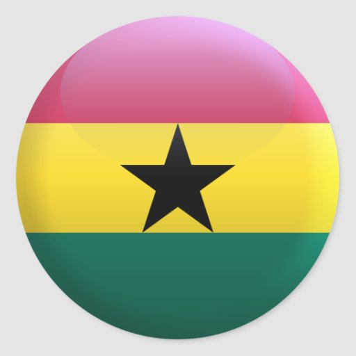 Bandera de Ghana Pegatina Redonda