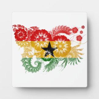 Bandera de Ghana Placa De Madera