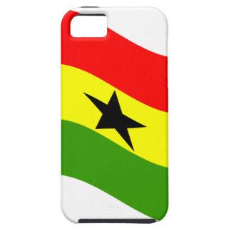 Bandera de Ghana que agita Funda Para iPhone 5 Tough