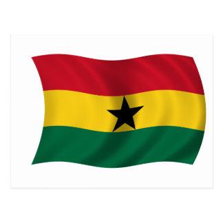 Bandera de Ghana Postales