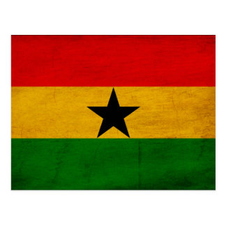 Bandera de Ghana Tarjeta Postal