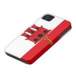 Bandera de Gibraltar Case-Mate iPhone 4 Carcasa