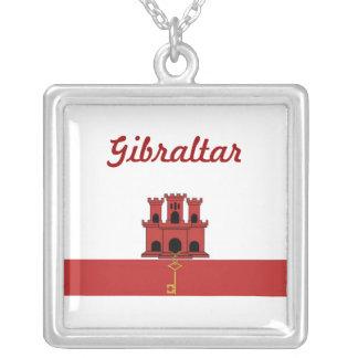 Bandera de Gibraltar Colgante Cuadrado