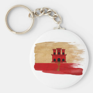 Bandera de Gibraltar Llavero Redondo Tipo Pin