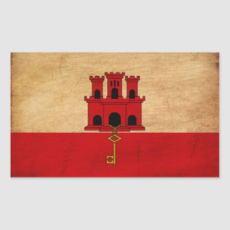Bandera de Gibraltar Pegatina Rectangular