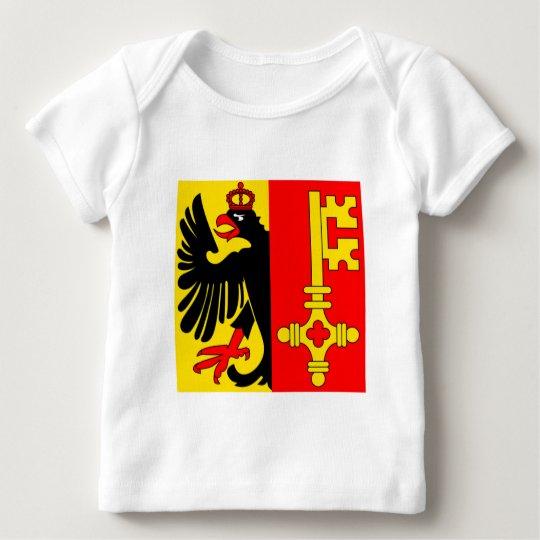 Bandera de Ginebra Playera De Bebé