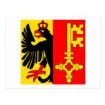 Bandera de Ginebra Tarjeta Postal
