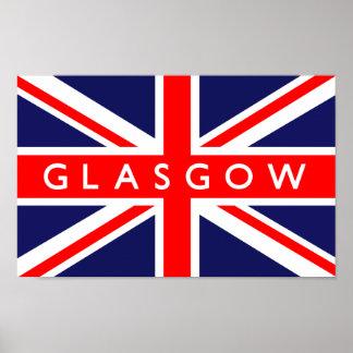 Bandera de Glasgow Reino Unido Poster