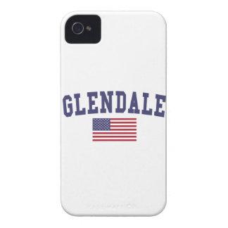 Bandera de Glendale AZ los E.E.U.U. Case-Mate iPhone 4 Protectores