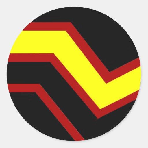 Bandera de goma del orgullo pegatinas redondas