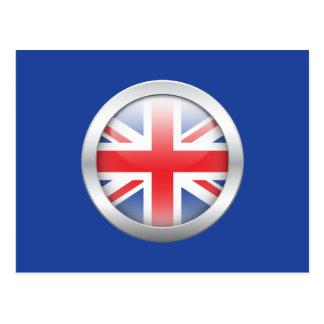 Bandera de Gran Bretaña en orbe Postal