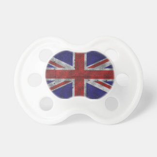 bandera de Gran Bretaña en Stahlblech Chupete