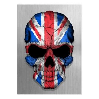 Bandera de Gran Bretaña en un gráfico de acero del Tarjeta De Visita