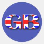 Bandera de Gran Bretaña Pegatinas Redondas