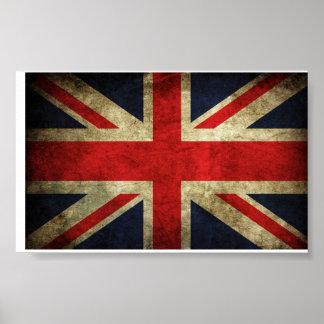 Bandera de Gran Bretaña Reino Unido Póster