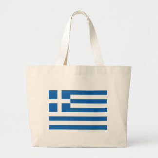 Bandera de Grecia Bolsa Tela Grande